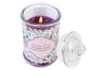 1pce Luxury Living Glass Purple Candle Bottle 5.8cm x 10cm Scented Lavender