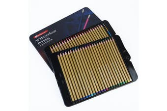New Superior 48pce Artist Watercolour Pencils in Metal Box - Water Colour