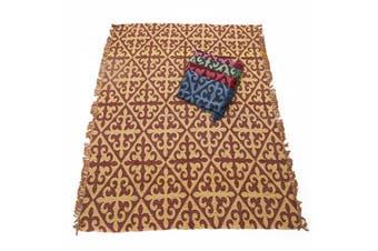 1pce Yellow Chevron Design Throw Rug / Table Cloth / Picnic / Camping Blanket 180x200cm