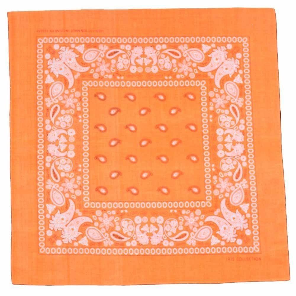 Bandana Fluro Orange Traditional Paisley 100/% Cotton 55x55cm