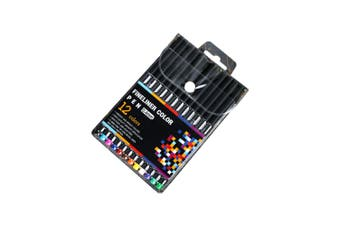 12pce 0.4mm Fine Liner Pens Fine Tip Excellent Quality Sketching and Drawing