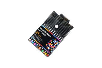 24pce 0.4mm Fine Liner Pens Fine Tip Excellent Quality Sketching and Drawing