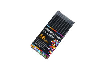 60pce 0.4mm Fine Liner Pens Fine Tip Excellent Quality Sketching and Drawing