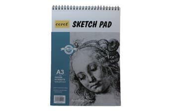 A3 Sketch Binder Pad White Paper 160g 24 Sheet Sketching & Drawing Acid Free