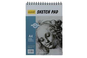 A4 Sketch Binder Pad White Paper 160g 24 Sheet Sketching & Drawing Acid Free