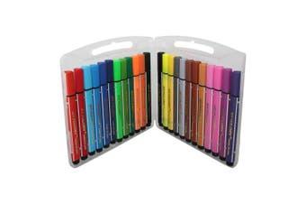 24pce Jumbo Marker Pen Set in Carry Case Kids Art Craft Drawing