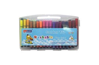 36pce Jumbo Marker Pen Set in Carry Case Kids Art Craft Drawing