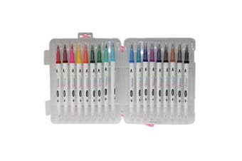 18pce Watercolour Pen Set Dual Tip Fine Liner Painting/Drawing Quality
