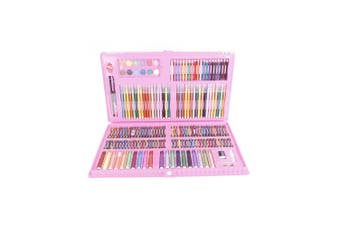 Superior 188pce Kids Art and Craft Mixed Media Kit in Case Crayons, Markers, Watercolour & MORE!