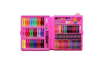Pink 151pce Kids Art and Craft Mixed Media Kit in Case Crayons, Markers, Watercolour & MORE!