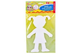 15pce Girl Paper Cut Outs - DIY Fun Kids Craft