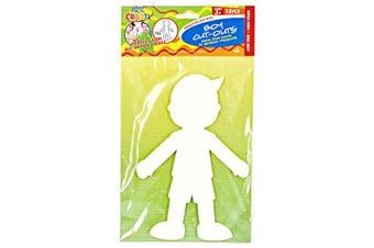 15pce Boy Paper Cut Outs - DIY Fun Kids Craft