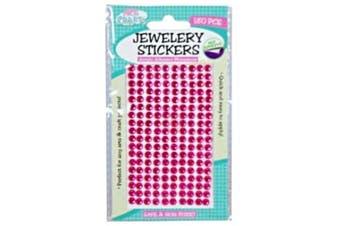 180pce Adhesive Rhinestones - Hot Pink 5mm, Scrapbooking Art & Craft Card Making