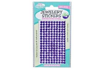 180pce Adhesive Rhinestones - Purple 5mm, Scrapbooking Art & Craft Card Making
