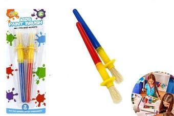 2pce Kids Paint Brush Set with Rests Childrens Painting Craft DIY