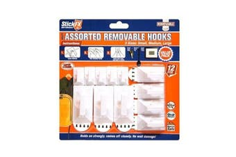 New 12pce Assorted Removable Hooks Set Suitable For Photos/Frames