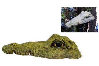 1pce Floating Crocodile Head Realistic Great for - 34cm Closed Mouth