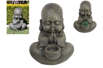 1pce 57cm Chubby Garden Buddha/Monk with Offering Bowl