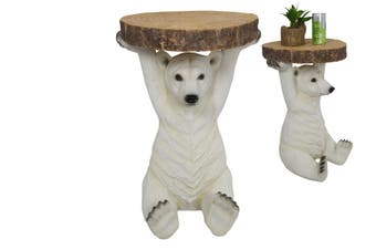 52cm Bundy Style Polar Bear Feature Side Table
