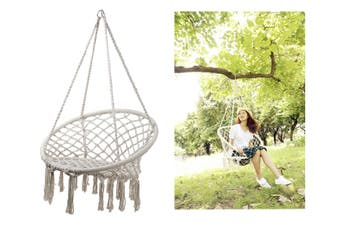 New 1pce Macrame Hanging Chair (Max 100kg) Premium Quality