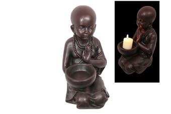 New 1pce 33cm Monk with Bowl Candle Holder