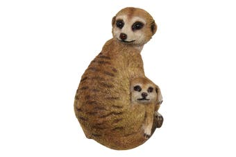 New 1pce 21cm Mother and Baby Meerkat Family Theme Resin Orniment