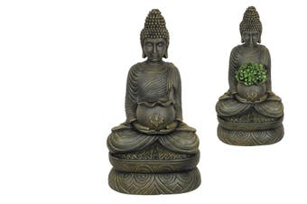 1pce 55cm Sitting Rulai Buddha Holding Pot for Plants or Succulents Resin Outdoor
