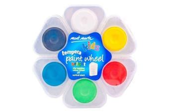 Mont Marte Tempera Paint Wheel 6pce - BRIGHT Watercolour