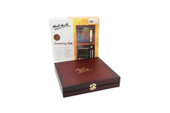 Mont Marte Signature Drawing Set 48pce In Wooden Gift Box