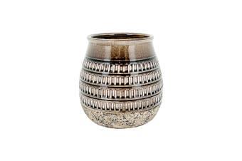 New 1pce Large Italian Inspired Vase Ceramic Glazed and Sealed 20x20cm For Flower