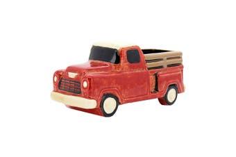 1pce Ceramic Planter Red Truck (No Hole) 25x11x12cm Flower Pot Succulents