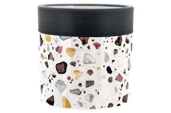 White Small Rocks Ceramic Pot Plant Planter Mosaic Terrazzo Design 7x7cmH Succulent