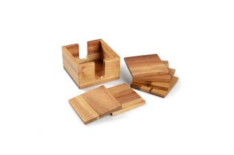 Sherwood Natural Acacia 7 Piece Coaster Set