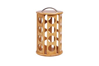 Sherwood Bamboo Coffee Pod Carousel 24 Pod Capacity (Designed for K-cups) - Natural Brown