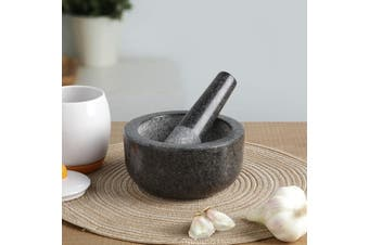 Gourmet Kitchen Mortar and Pestle Dark Granite