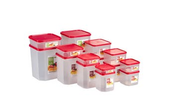 Sherwood 16-Pc Square Modular Canister Set (Various Sized Containers For Storage )