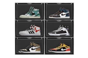 Sherwood Side Display Stackable Shoe Storage Display Box - Black