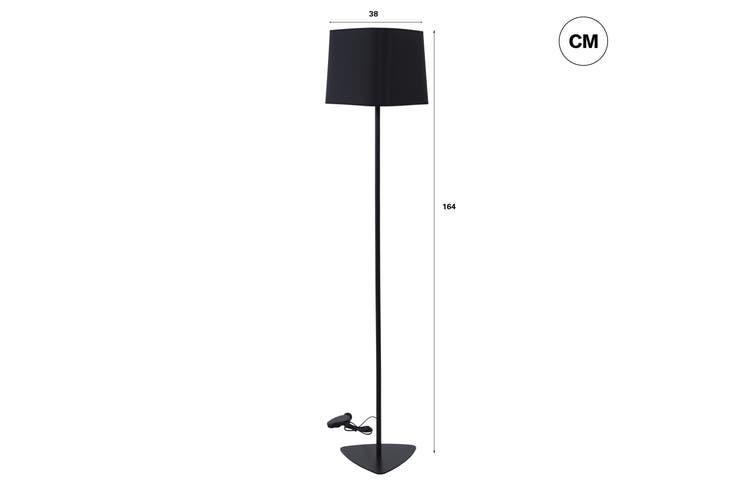 Sherwood Olivia Black Floor Lamp
