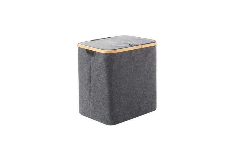 Sherwood Linen & Bamboo Rectangular Short Laundry Bag with Cover 40*33*43cm