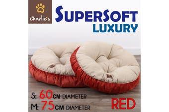CHARLIES Pet Bed Round Cushioned Soft Dog Cat Puppy Pad Mattress Warm Soft