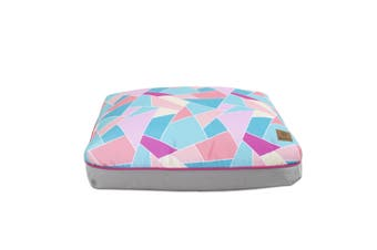 Charlie's Rectangular Funk Pet Bed Pad- Multi Triangle Large