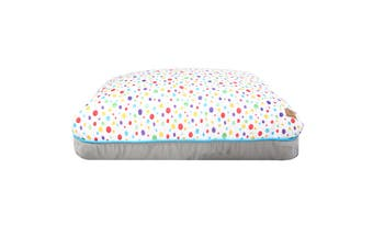 Charlie's Rectangular Funk Pet Bed Pad- Rainbow Dots Large