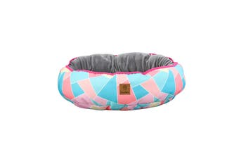 Charlie's Pet Reversible Oval Pad Bed - Multi Triangle Small