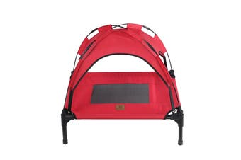 Charlies Elevated Pet Bed With Tent Red 61*46*18