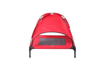 Charlies Elevated Pet Bed With Tent Red 76*61*18