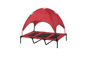 Charlies Elevated Pet Bed With Tent Red Extra Large