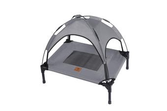 Charlies Elevated Pet Bed With Tent Light Grey 61*46*18