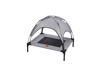 Charlies Elevated Pet Bed With Tent Light Grey 76*61*18
