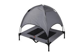 Charlies Elevated Pet Bed With Tent Light Grey 92*76*18