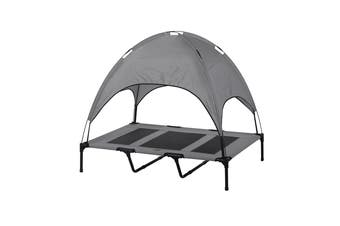 Charlies Elevated Pet Bed With Tent Light Grey 122*92*23